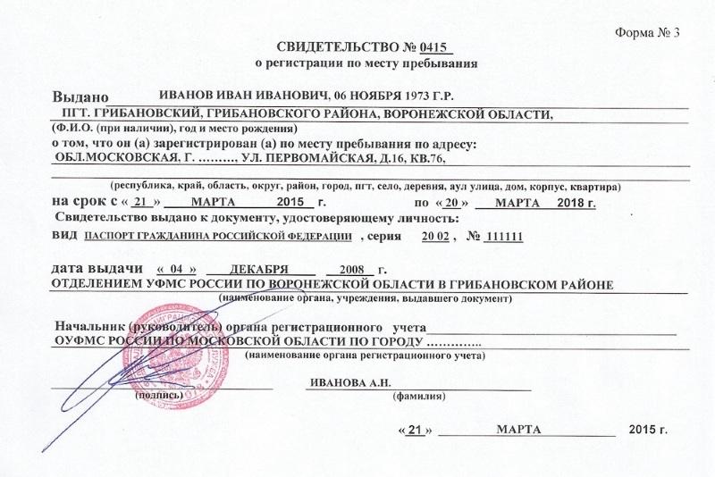 Временная регистрация процедура получения нужна временная регистрация в южно сахалинске